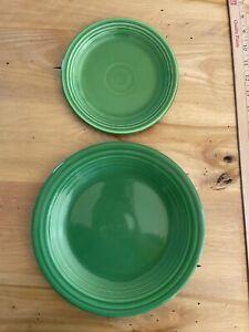 "2 FIESTAWARE Fiesta 9.5"" and 7""PLATES Medium Green"