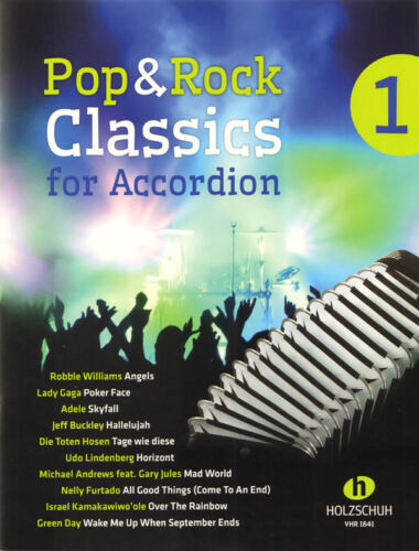 Pop /& Rock Classics for Accordion 1 Songbook Noten für Akkordeon