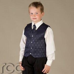 Boys-Black-and-Navy-Blue-Suit-Wedding-Pageboy-Waistcoat-Suit-Age-0-3m-to-8yrs