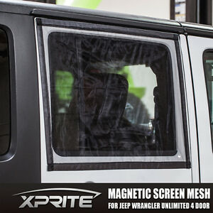 Window Magnetic Sun Shade Bug Insect Screen Mesh For 07 18 Jeep