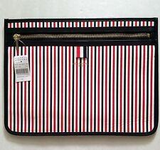 Thom Browne Red, White, Blue Stripe Leather Document Holder Portfolio Clutch NWT