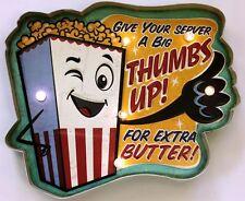 Movie Theater LED Metal Sign Popcorn Ad Vintage Home Theatre Decor Cinema New