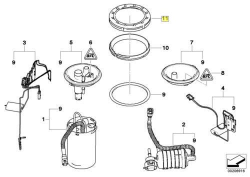 Bmw Réservoir à Carburant Pompe Capteur cover lock Bague 16116762417