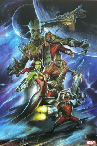 ADI GRANOV rare GUARDIANS OF THE GALAXY print 11 x 17 SIGNED limited LAST TWO