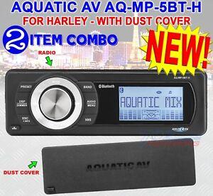 AQUATIC-AV-FOR-HARLEY-DAVIDSON-BLUETOOTH-REPLACE-RADIO-FITS-98-2013-AQ-MP-5BT-H
