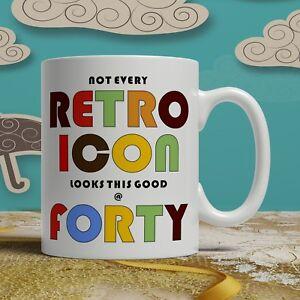 Image Is Loading 40th Birthday Mug Present Gift Retro Idea Men