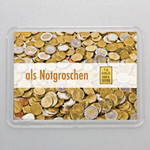 Valcambi 1 Gramm Gr. 999.9 Goldbarren Gold als Notgroschen Geschenk Weihnachten
