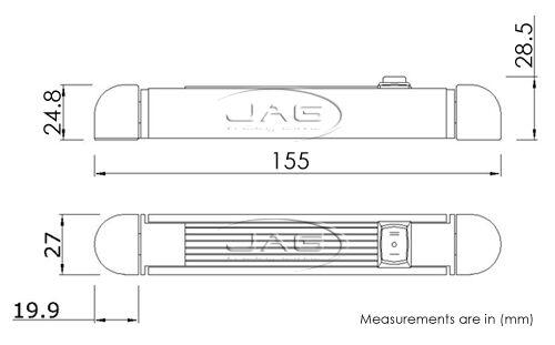 12V SILVER ALUMINIUM 12-LED SWIVEL RAIL READING LAMP//CABIN //BOAT LIGHT /& SWITCH
