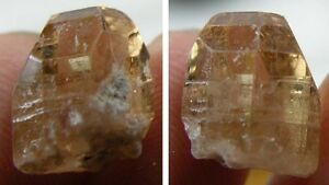 #12 Mexico 100% Natural Terminated Peach Imperial Topaz Crystal Specimen 6.30ct