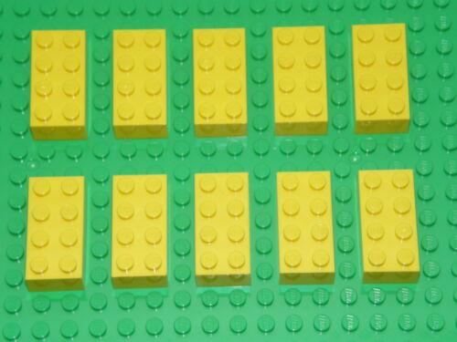 LEGO 10 x YELLOW BRICKS 2 x 4  No 3001  CITY-STAR WARS-MOVIE