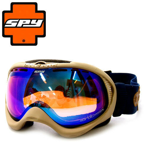 NEW Spy - Orbit - Snow Goggles, DCP Signature Persimmon bluee Spectra Mirror lens