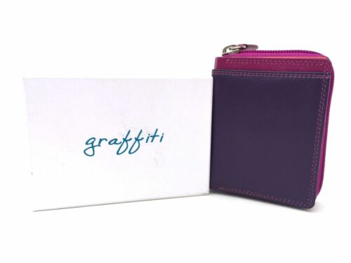 Graffiti Range RFID Safe Leather Small Coin Purse Wallet by Golunski 7-113