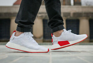 Details about NEW NIB Adidas NMD R2 BA7253 White Red Yeezy Boost Men Sneakers