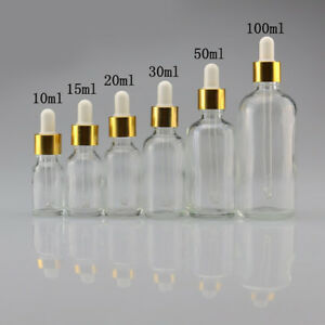 IG-KE-5ml-100ml-Empty-Liquid-Bottle-Clear-Glass-Reagent-Pipette-Dropper-Bottle