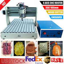 4 Axis 400w 3040 Cnc Router Engraver Paralllel Engraving Cutting Milling Machine
