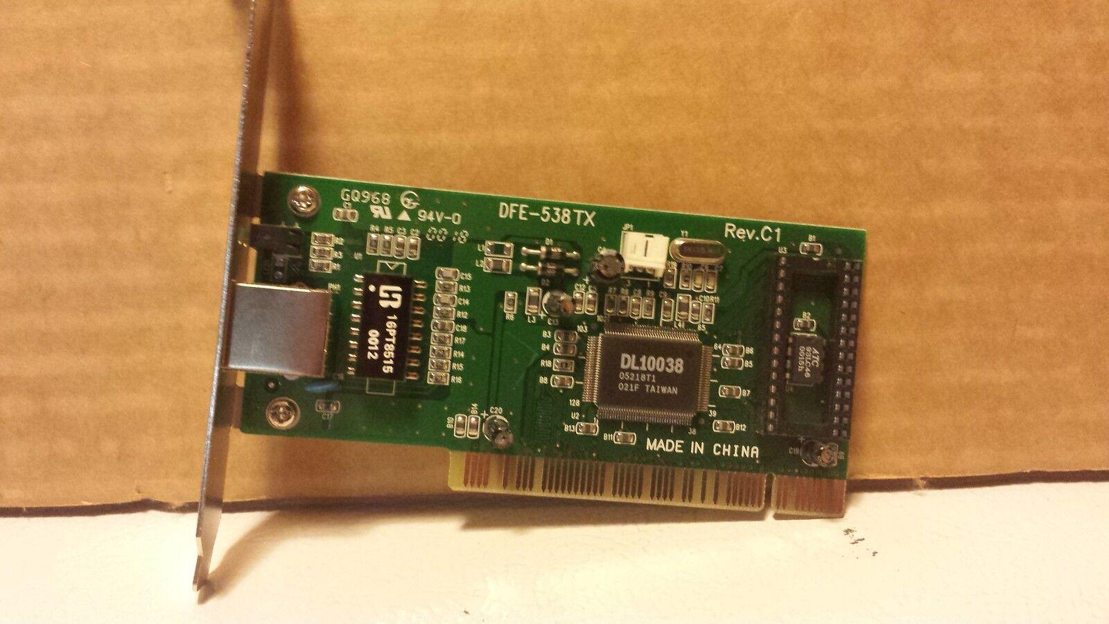 Used D-Link 10/100 DFE-58TX REV.C1 Ethernet PCI Network Adaptor