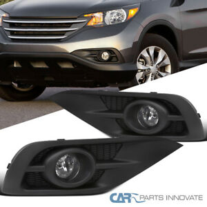 Switch Left+Right For 2012-2014 Honda CRV CR-V Bumper Fog Lights Driving Lamps