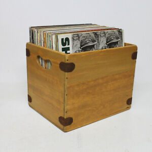 Handarbeit-Holz-Album-Kiste-12-inch-LP-Vintage-Vinyl