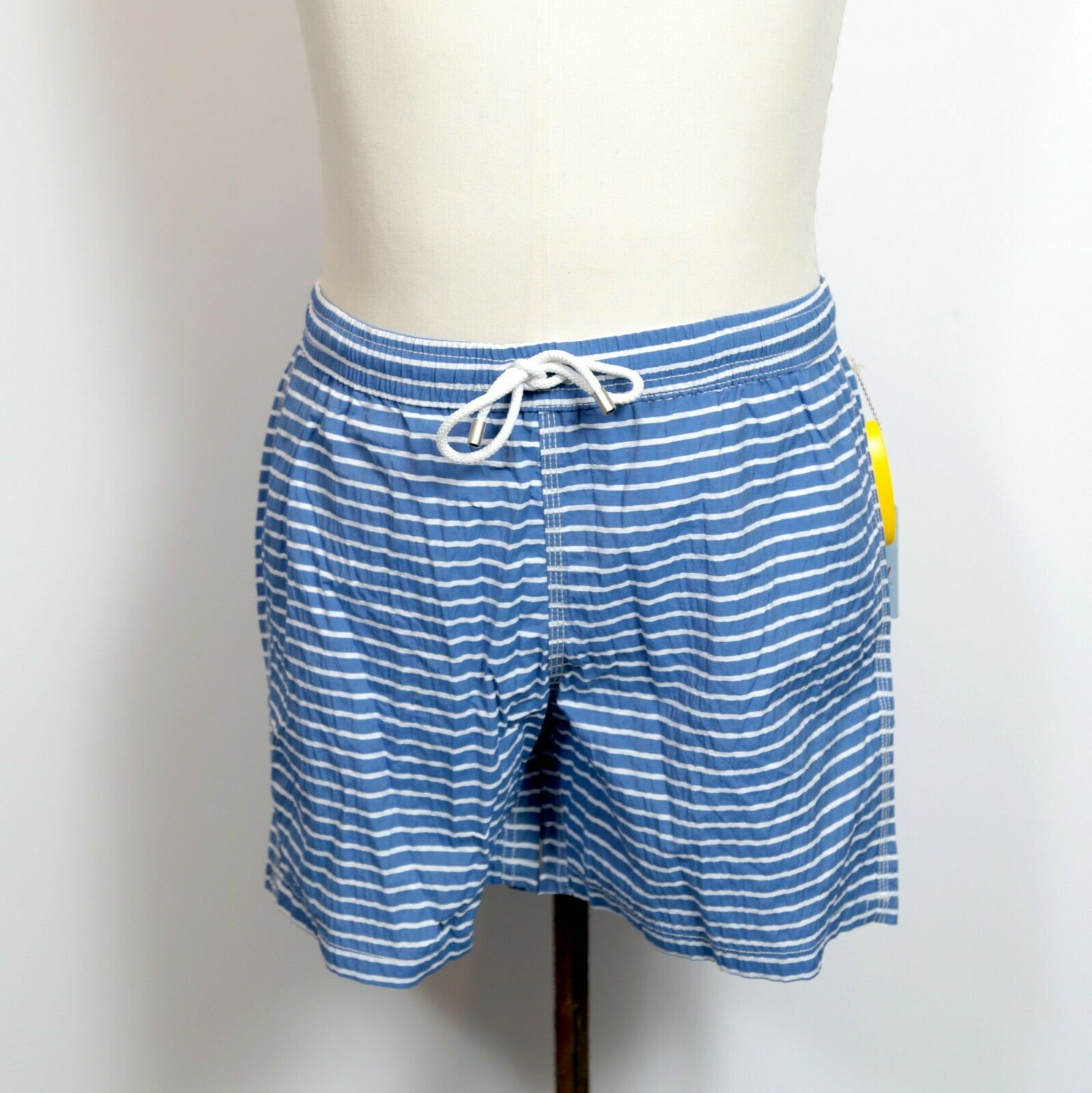 Hartford bluee With White Stripe Print Swim Trunks NWT Various Sizes Retail