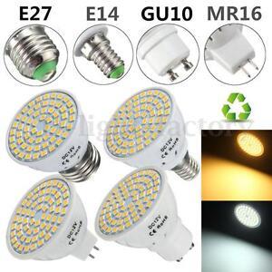 E27-E14-GU10-MR16-Ampoule-5W-Bulb-2835-SMD-60-LED-Spot-Light-Lampe-DC-12V-120