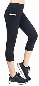 d07f2f249921d Neonysweets Women's Capri Yoga Pants Active Workout Pants Running ...
