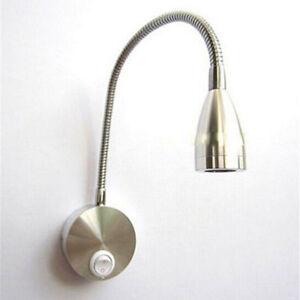 LED 3W Wandleuchte Bedside Leseleuchte Wandlampe Lampe mit 360-Grad Flexible Arm