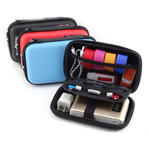 Portable Electronic Accessories Cable USB Organizer Bag Case Drive Travel Insert