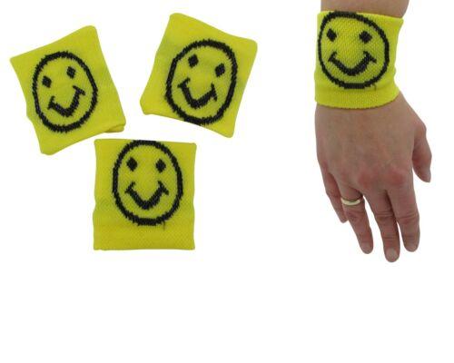 48x Schweißbänder gelb Smiley Schweissband Giveaway Restposten Sonderposten NEU