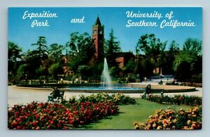 Los Angeles CA Exposition Park & University of Southern California Postcard  | eBay