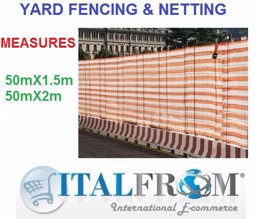 50m projoección visual valla Barrier valla de seguridad rojo papel, obras, blancoo naranja