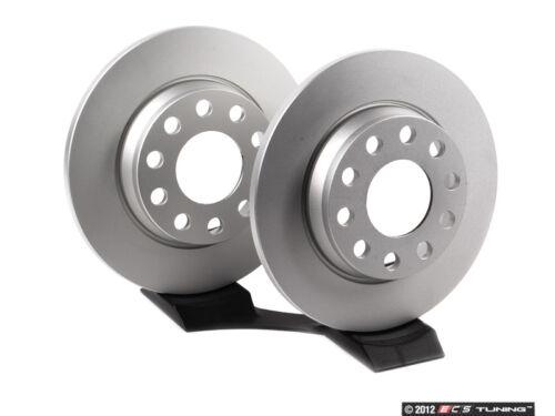Meyle 255x12 - 8E0615601QKT5 Pair Rear Brake Rotors