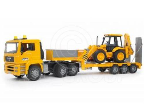 Bruder Toys 02776 Pro Series MAN TGA LOW LOADER with JCB 4CX Digger  1:16