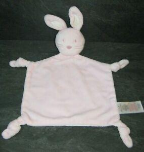 doudou-lapin-rose-blanc-fleur-early-days-etat-comme-neuf