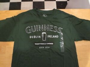 Genuine-Guiness-Logo-Official-Merchandise-Men-039-s-Green-T-Shirt-Size-Med-32-34