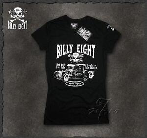 Ladies-rockabilly-greaser-psychobilly-biker-punk-Billy-Eight-Original-T-shirt