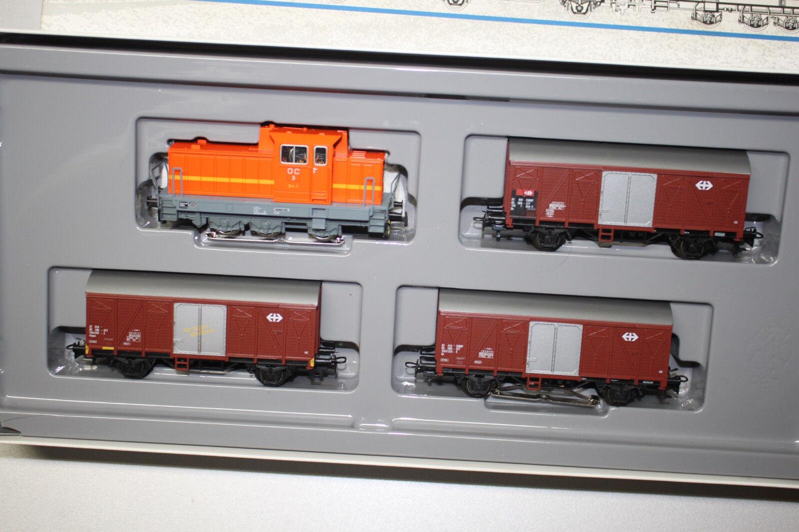 Märklin 2847 suizos junto a ferrocarril tren de carga pista h0 OVP