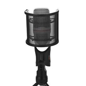 New-Microphone-Windscreen-Professional-Recording-Studio-Mic-Cover-Dual-Layer