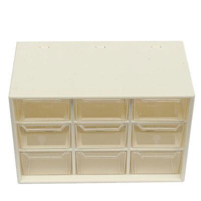 Clear 9 Lattice Portable Mini Desktop Drawer Cosmetic Jewelry Storage Box Case