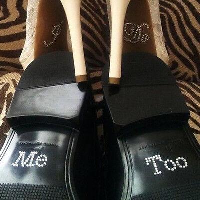 Trendy Wedding Accessory Bridal and Groom Shoe Sticker Wedding Decal I Do Me Too
