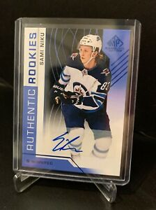 2018-19-SP-Game-Used-Authentic-Rookies-SAMI-NIKU-Autograph-RC