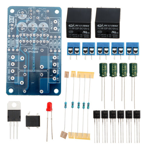 Audio Speaker Protection Board DIY Amplifier Components Relay Kit For Stereo