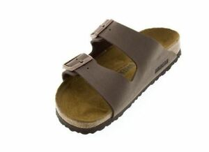 4418fbfef556 Image is loading Birkenstock-Arizona-BS-Sandal-Mocca-Birkibuc-Narrow-45-