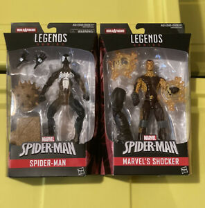 Marvel-Legends-Lot-Spider-Man-amp-Shocker-Sandman-BAF-Black-Suit-Venom-New-MIB