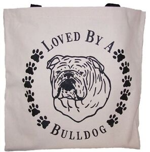 Loved-By-A-English-Bulldog-Tote-Bag-New-MADE-IN-USA