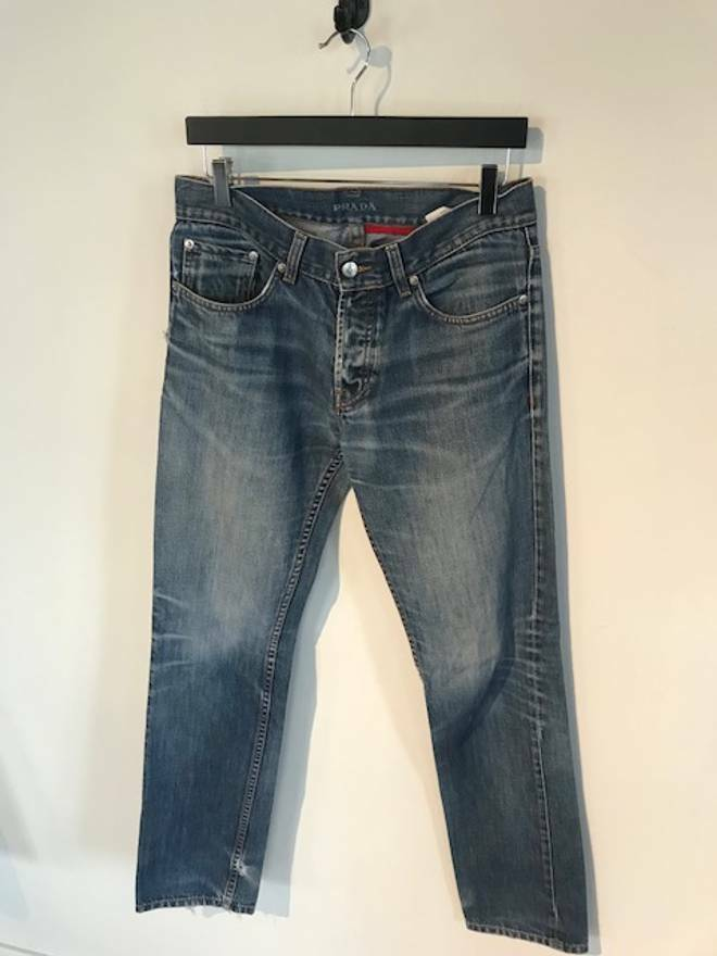 Prada bluee Stone Washed Jeans