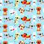 Telas-de-policotton-Tela-flamencos-Unicornios-Ladybirds-Perro-Gato-Conejo-Panda-pajaro-de-animales miniatura 7