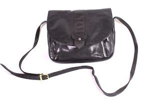 f2d1db760ef32 Das Bild wird geladen B14-Samsonite-Damen-Tasche -Umhaengetasche-Leder-schwarz-Saddle-