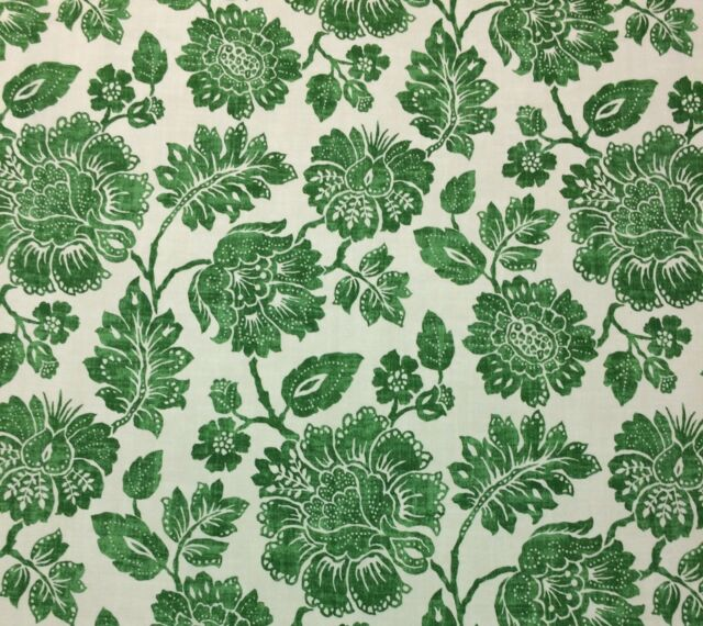 Ethan Allen Amara Leaf Green Fl Toile Multipurpose Fabric By The Yard 54 W For Online Ebay