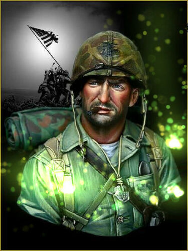 1//10 resin bust figure model kit US soldiers in the Pacific TB00118 garage kit