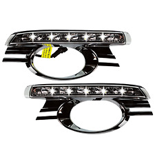 LED Tagfahrlicht TFL chrom Mercedes C-Klasse W204 Bj. 07-11 Limousine Kombi